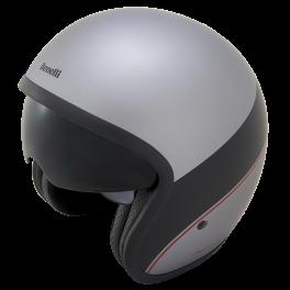 Leoncino Jet Helm  Silver/Black  S