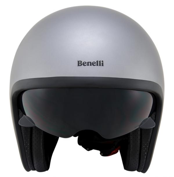 Leoncino Jet helm Silver/Black M
