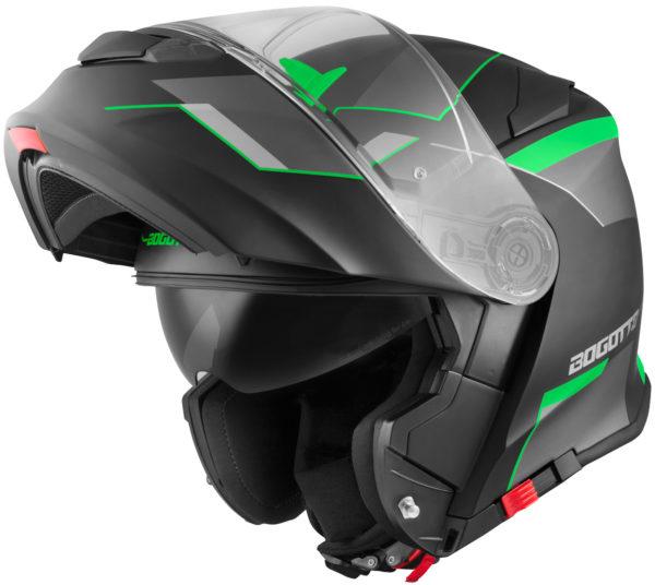 V271 Black matt / green - Large