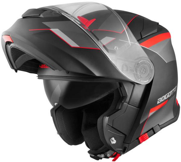 V271 Black Matt / Red - Large