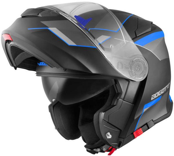 V271 Black matt / blue - XL