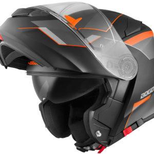 V271 Black matt / orange – Large