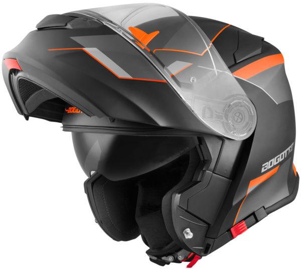V271 Black matt / orange - Large