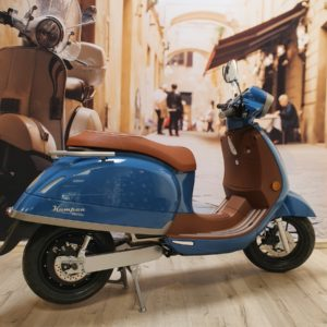 Azur blue / Mahagoni brown