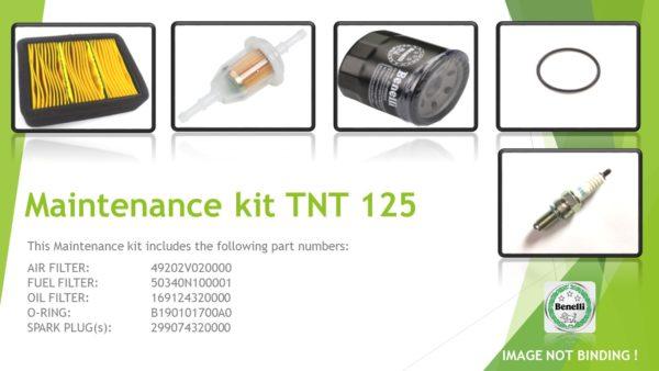 maintenance kit TNT125