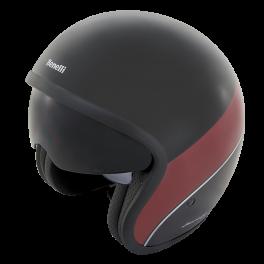 Leoncino Jet Helm Black/Red Large